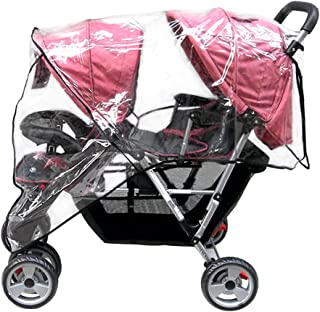 Best Aligle Weather Shield Double Popular for Swivel Wheel Stroller Universal Size Baby Rain Cover/Wind Shield Deal (Black) Review