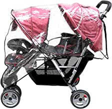 double pushchair rain cover