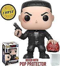 Funko Pop! Marvel: Netflix Daredevil - Punisher CHASE Variant Limited Edition Vinyl Figure (Bundled Pop Box Protector Case)