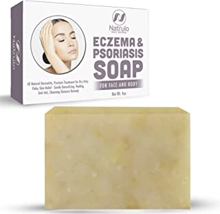 Eczema Soap Bar for Face and Body – All Natural Dermatitis, Psoriasis Treatment for Dry Itchy Flaky Skin Relief – Gentle D...