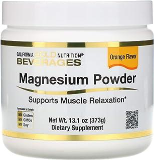 California Gold Nutrition Magnesium Powder Beverage, Orange Flavor, 13.1 oz (373 g)
