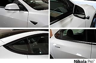 Nikola Pro Tesla Model 3 Full Chrome Delete Kit   Two Complete Kits Included   Made in USA   3M 2080 Vinyl   Heat Gun Incl...