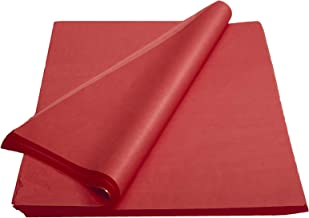 Crown 480 Sheets Bulk Pack Red Tissue Paper Gift Wrap - Ream of Paper - 15 inch. x 20 inch. Wrapping Tissue Paper - for Sc...