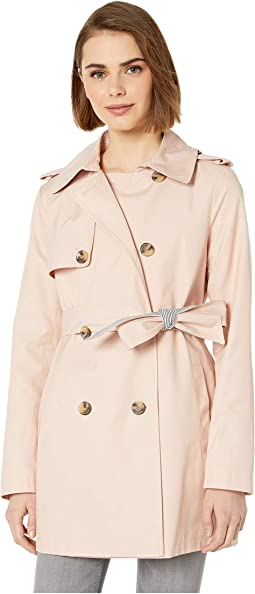 Double Breasted Trench w/ Stripe Detail Belt