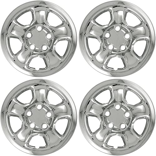 high quality 17 inch Hubcap new arrival Wheel Skins for 2002-2012 Dodge Ram-(Set of 4) Wheel Covers- Car Accessories for 17inch Chrome Wheels- Auto Tire Replacement new arrival Exterior Cap Cover outlet sale