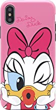 iPhone X Case, MC Fashion Cute Cartoon Matte Finish Case for Teens Girls Boys Women, Ultra Slim Soft TPU Case for Apple iPhone X (2017) and iPhone Xs (2018) (Kiss/Daisy Duck)