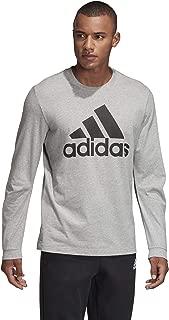 Adidas Men's Must Haves Badge of Sport Tee, Grey/Black, Medium