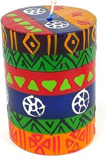 Global Crafts Single Boxed Hand-Painted Pillar Candle - Shahida Design - Nobunto Candles