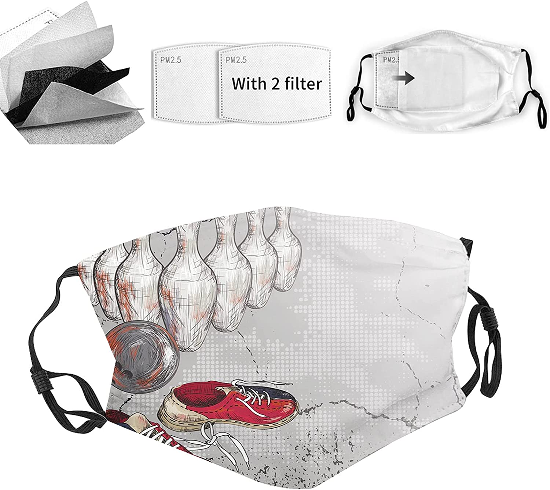 Cloth Face Mask Bandana With 2pcs Filters,Balaclava Adjustable Earloop Washable Reusable for Adults