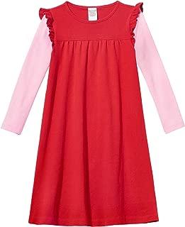 Girls' Super Soft Cotton Long Sleeve Flutter Dress Made in USA