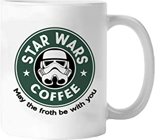 Best funny Star Wars Mug - May The Froth Be with You (Storm Trooper) - 11 ounces coffee mug - By Miracle(Tm) …