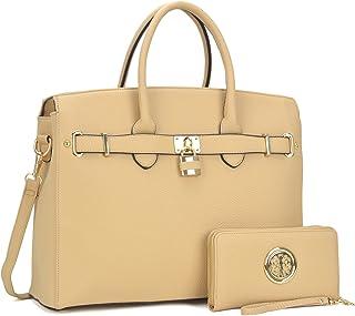 9dee7583e1 Dasein Women s Purses and Handbags Large Tote Shoulder Bag Top Handle  Satchel Hobo Bag Briefcase