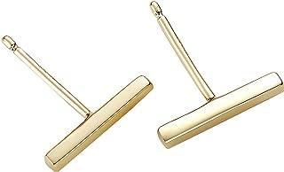 Sterling Silver Earrings Bar Stud Earrings Gold Earrings for Women