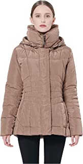 Orolay Women's Short Down Coat Winter Jacket with Removable Hood