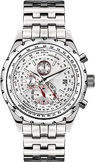 Richtenburg - R10900_Silber - Reloj para Hombres, Correa de Acero Inoxidable Color Plateado