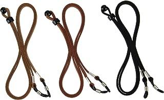 eBoot Eyeglass Strap PU Leather Eyeglass Strap Eyeglass Cords Retainer, 3 Pieces