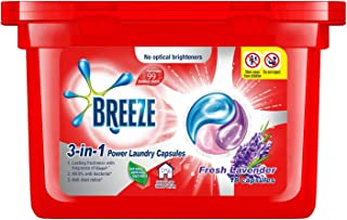 Breeze Laundry Capsules Fresh Lavender 3-in-1 Power Laundry Capsules, 270 grams