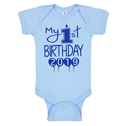 5e4779160294 Reaxion Aiden's Corner Handmade First Birthday Baby Clothes - Baby Boys My 1st  Birthday Bodysuits Shirts