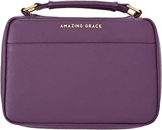 Amazing Grace LuxLeather Bible Cover in Berry - Large