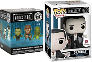 Blood Sucker Dracula Exclusive Pop! Holding Candle Universal Monsters Collection #799 Bundled with Mystery Minis Vinyl Blind Box Character 2 Items