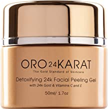 ORO24KARAT Facial Peeling Gel with 24k Gold, Anti-Aging Formula with Vitamins C and E