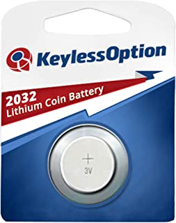 KeylessOption 2032 Battery Long Lasting 3v Lithium for Keyless Entry Remote Smart Key Fob Alarm Head Flip Keys CR2032