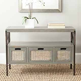 Safavieh American Homes Collection Joshua French Grey 3-Drawer Console Table