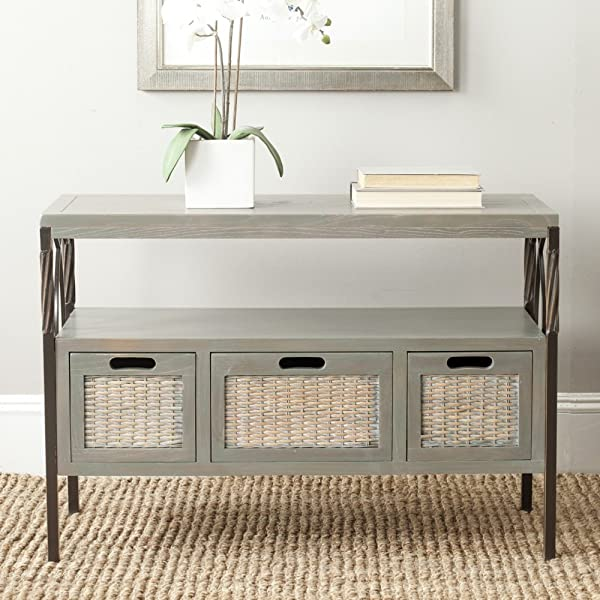 Safavieh American Homes Collection Joshua French Grey 3 Drawer Console Table