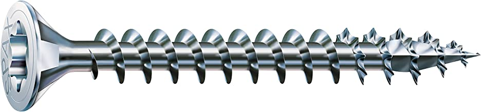 Spax 4CUT 1191010350155 Universal Screw, Countersunk T-Star Plus Fully Threaded, Galvanised Blank A2J, 1191010400353