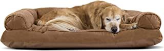 Furhaven Pet Dog Bed | Pillow Cushion Traditional Sofa & Deluxe Therapeutic..