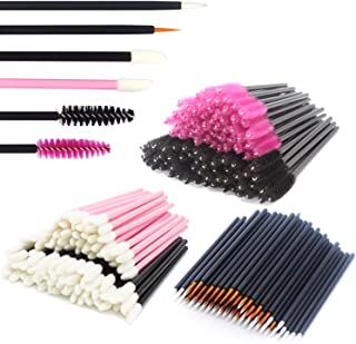 JIULORY Disposable Makeup Applicators Mascara Wands & Lipstick Applicators & Disposable Eyeliner Applicators 300PCS Makeup Applicators Tool Kits