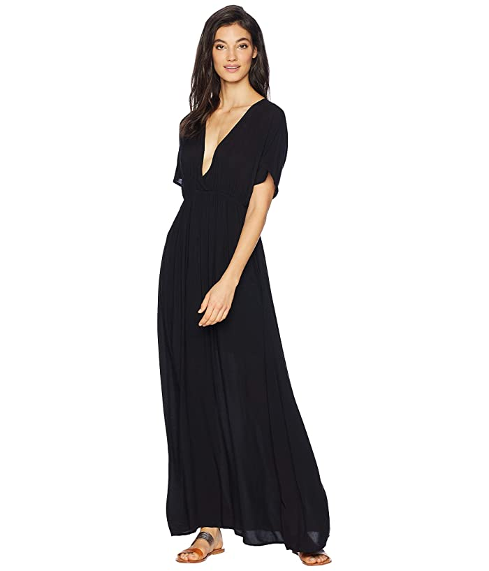 Hard Tail Spa Maxi Dress (Black) Women's Dress