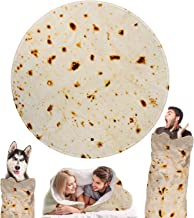 Outivity Burritos Tortilla Blanket, Novelty Giant Human Burritos Wrap Blanket, Soft Comfort Round Gag Food Blanket Throw Blanket for Adults (Yellow-2, 71 in)