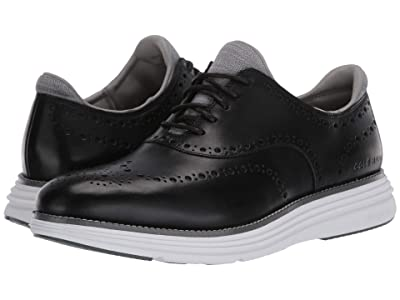 Cole Haan Original Grand Ultra Wing Ox (Black Leather/Optic White) Men