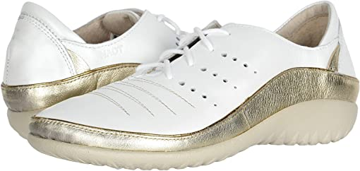 White Pearl Leather/Radiant Gold Leather