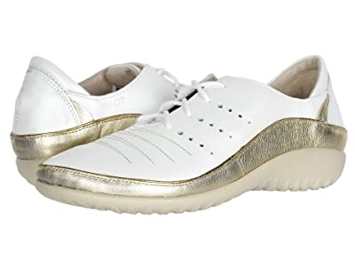 Naot Kumara (White Pearl Leather/Radiant Gold Leather) Women
