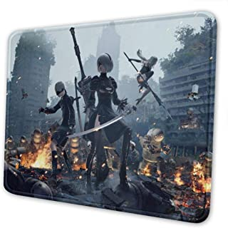 Nier Automata Gaming Mouse Pad Large 11.81 X 9.84 X 0.12 Inches Stitched Edges Waterproof Pixel-Perfect Accuracy Optimized for All Computer Mouse Sensitivity and Sensors