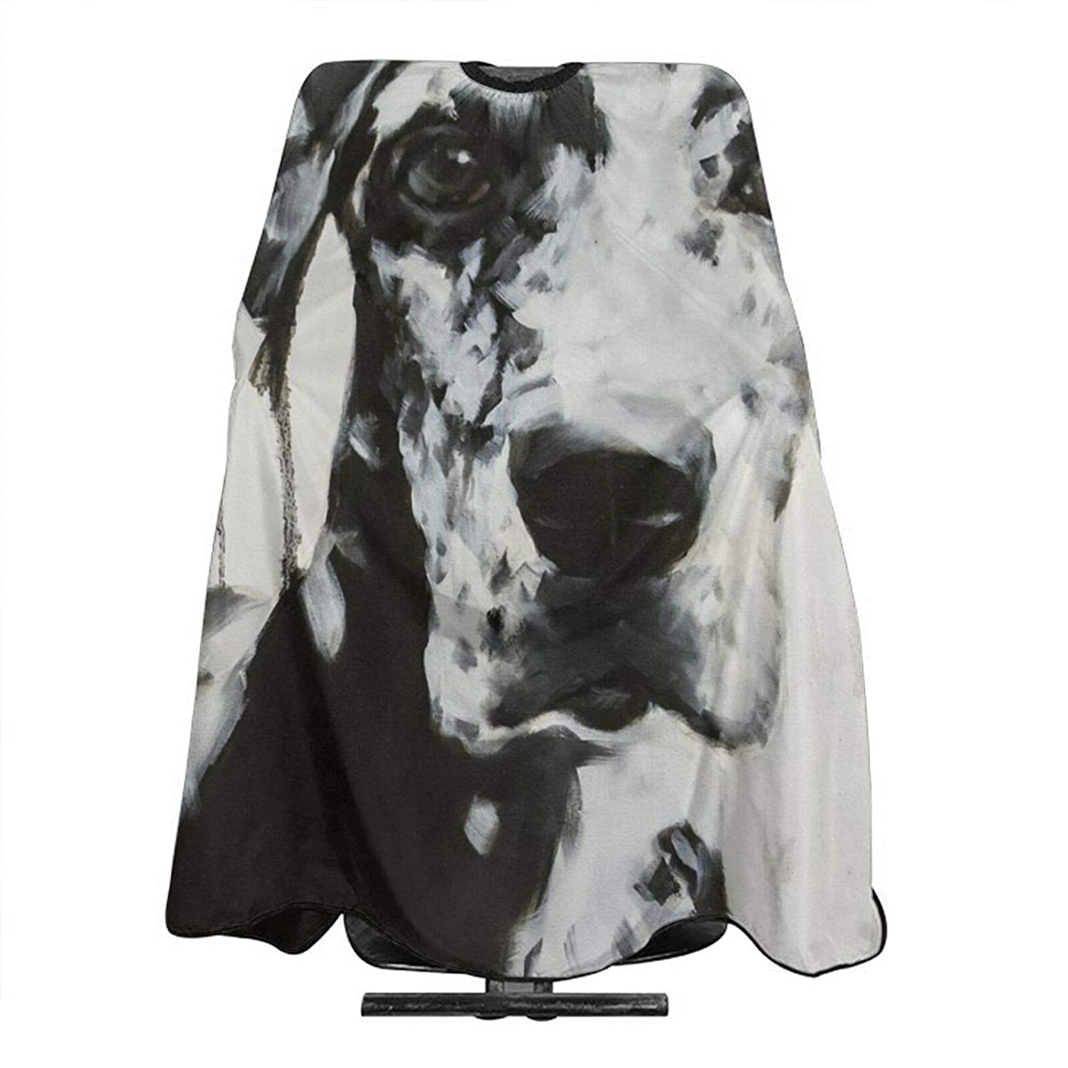 Large Black And White Harlequin Great Dane Art NEW before Fashion selling ☆ Cutting Cape Hair