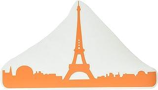 ملصق فينيل لجهاز ماك بوك مطبوع عليه The Decal Guru 2070-MAC-13A-P Paris City Skyline - 13 بوصة MacBook Air - برتقالي