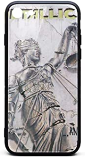 Silicone Compatible iPhone 6 Plus / 6S Plus Case Tempered Glass Metallica-and-Justice-for-All-Front- Shock-Absorption Anti-Scratch Slim TPU Protective Case for iPhone 6 Plus / 6S Plus 5.5 Inch