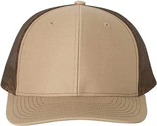 Trucker Snapback Cap,Khaki/Coffee,Adjustable
