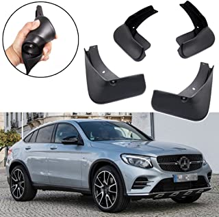 SPEEDLONG 4Pcs Car Mud Flaps Splash Guard Fender Mudguard for Mercedes-Benz GLC Coupe AMG Line / GLC43 AMG Coupe (Model w/o Running Boards)
