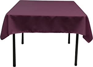 LinenTablecloth 54-Inch Square Polyester Tablecloth Eggplant
