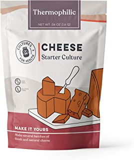 Thermophilic Cheese Starter Culture | Cultures for Health | Delicious, homemade, aged provolone, Parmesan, Romano, and more | No maintenance, non-GMO