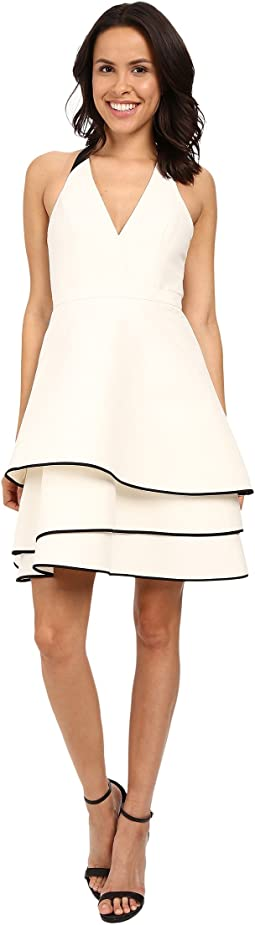 Halter Neck Dress with Layered Skirt