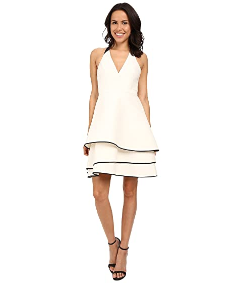 659df902daa Halston Heritage Halter Neck Dress with Layered Skirt at 6pm