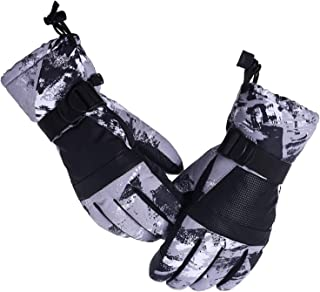 Aibrou Unisex Guantes de Esquí Impermeable Caliente