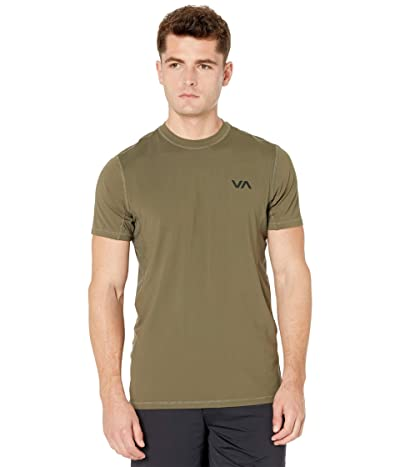 RVCA VA Sport Vent Short Sleeve Top (Olive) Men