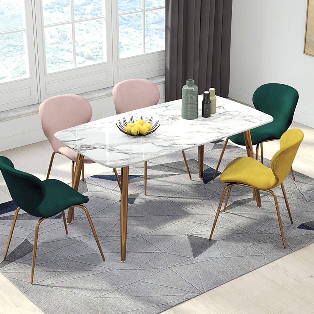 Jokeagliey Chaise de Maquillage, Nordic Home Back Dining Chair, Chaise de Bureau de Loisirs en Fer Clair, Chaises Tulipe, pour Restaurant/Famille,Gray Pink