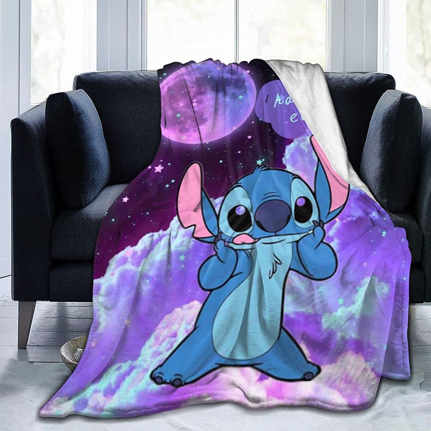 New arrival Yesbddfbc Stitch-with-Lilo Throw Ranking TOP14 Blanket Bed Flannel Fleece Blan